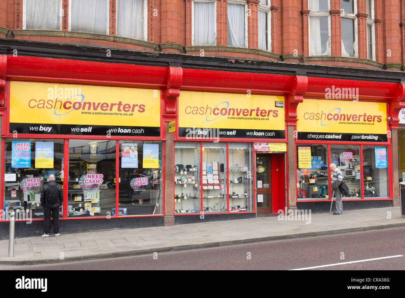 Cash Converters shop on Wallgate, Wigan buying and selling secondhand goods and providing other personal finance Stock Photo