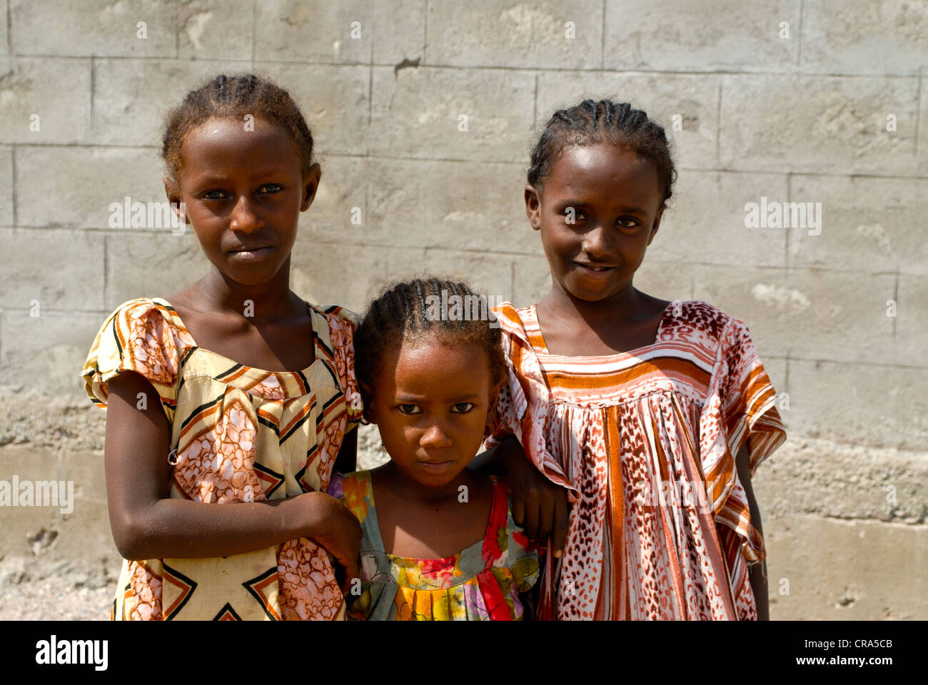 Girls of the Afar tribe in Tadjoura, Djibouti, East Africa, Africa - Stock Image