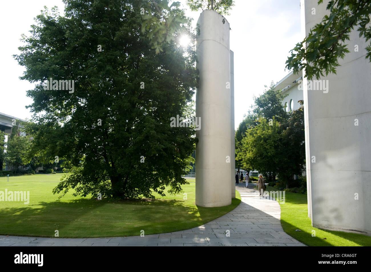 View from the garden, Bundeskanzleramt Federal Chancellery, Berlin, Germany, Europe Stock Photo