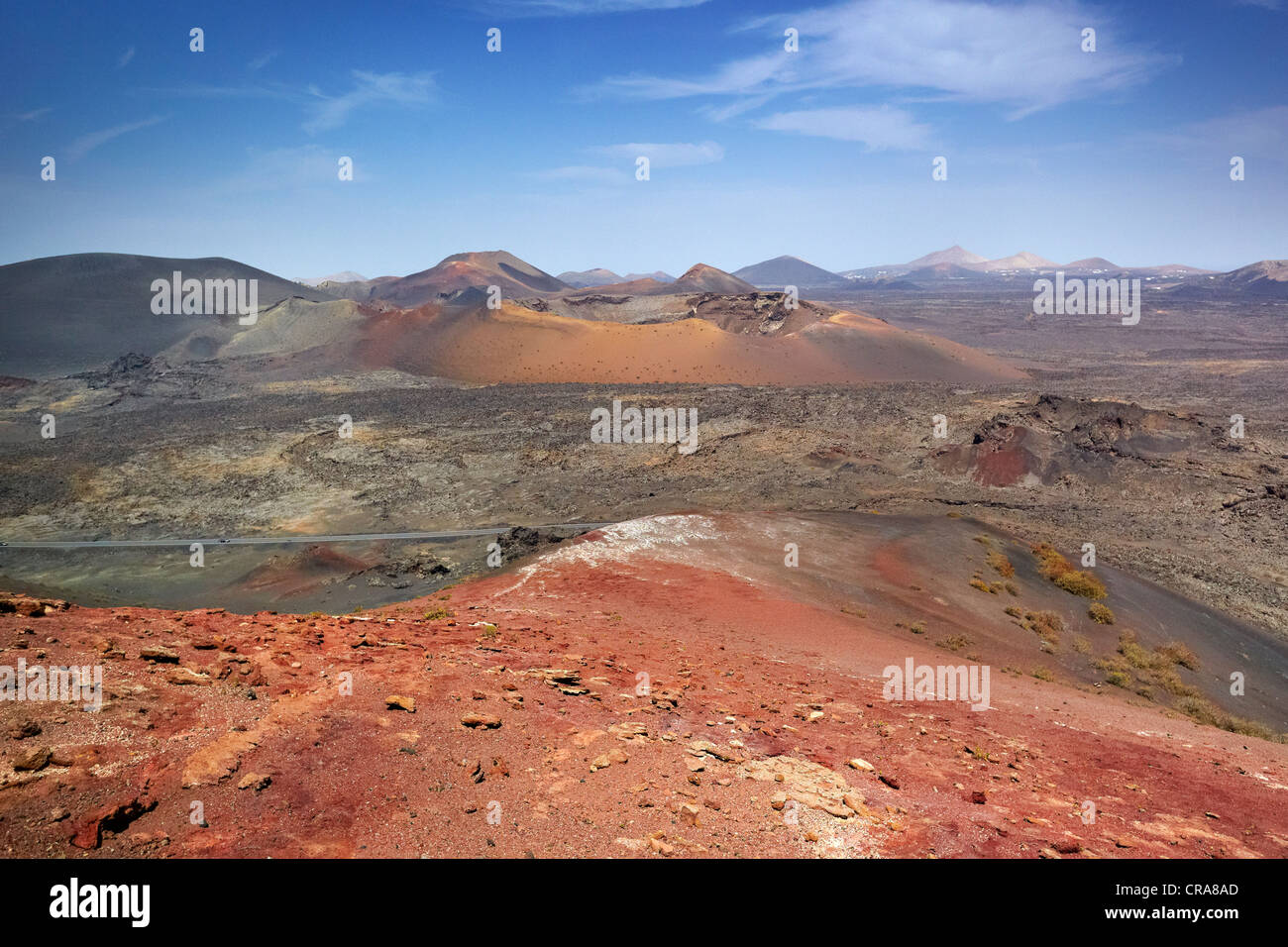 Timanfaya National Park, Lanzarote, Canary Islands, Spain - Stock Image