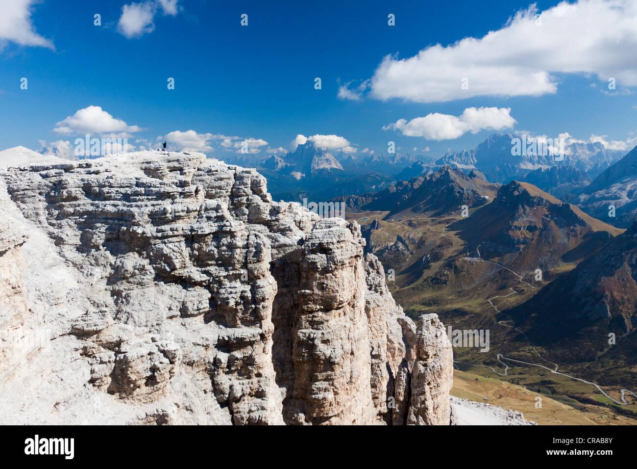 View From Sass Pordoi Sella Group Sella Ronda Dolomites Italy