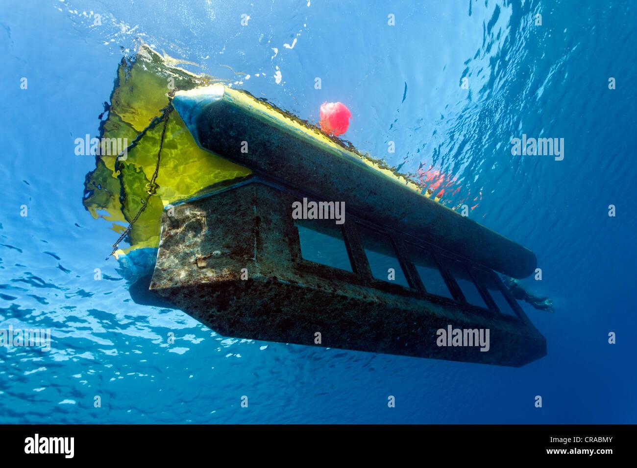 Sindbad yello submarine, Makadi Bay, Hurghada, Egypt, Red Sea, Africa - Stock Image