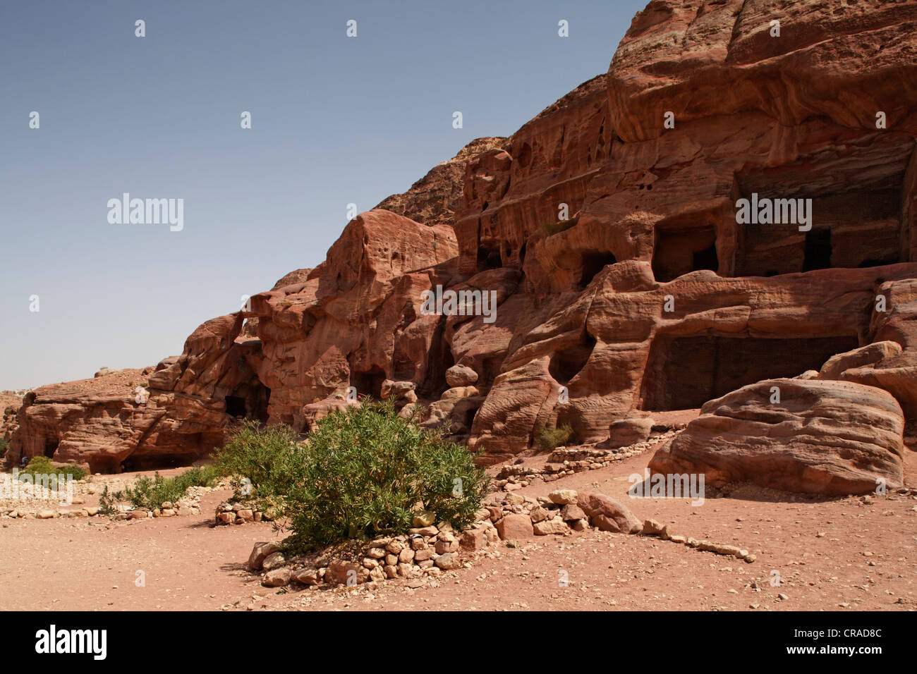 Rock tombs, Petra, the capital city of the Nabataeans, rock city, UNESCO World Hertage Site, Wadi Musa - Stock Image