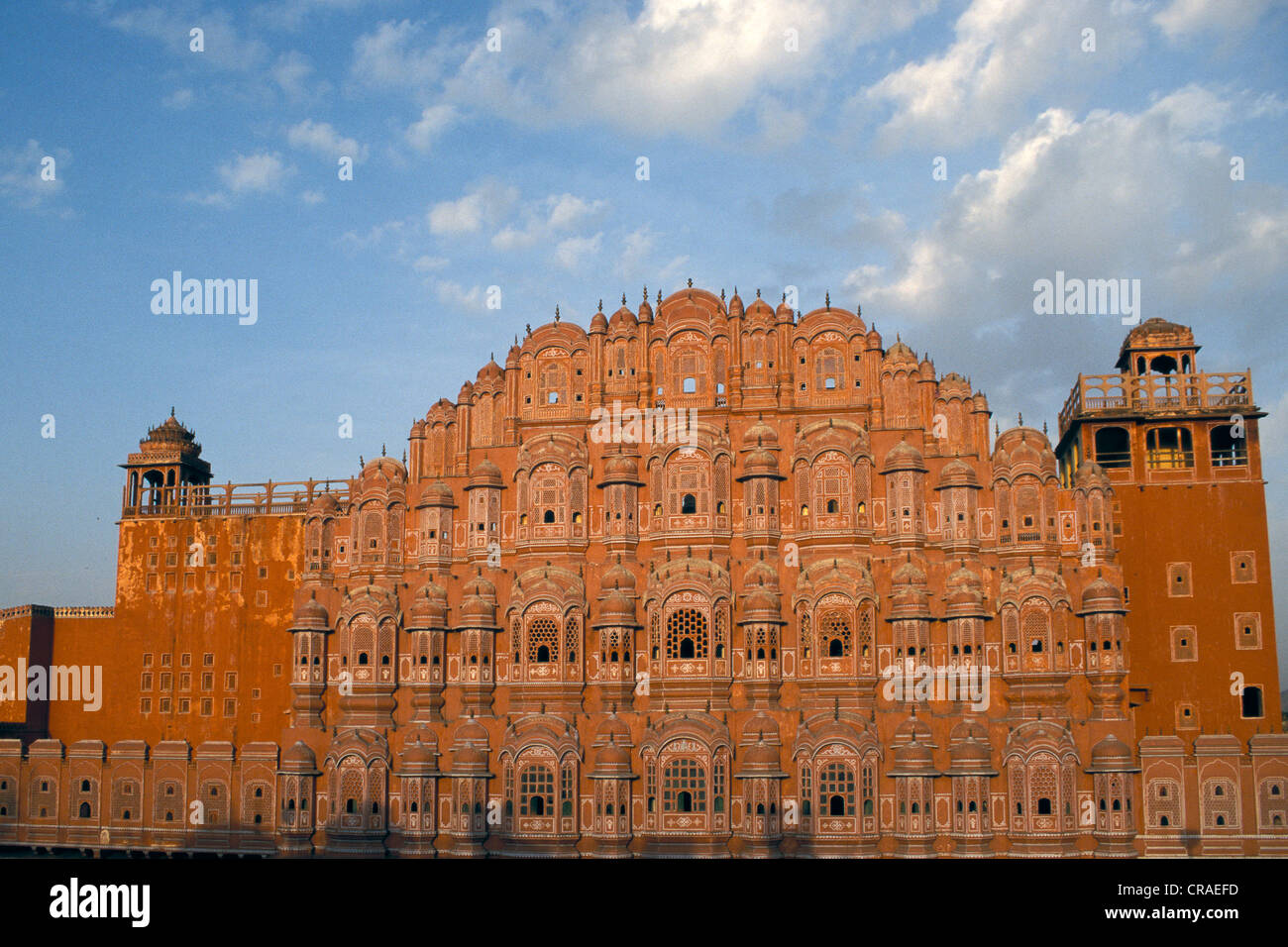 Hawa Mahal or Palace of Winds, Jaipur, Rajasthan, India, Asia - Stock Image