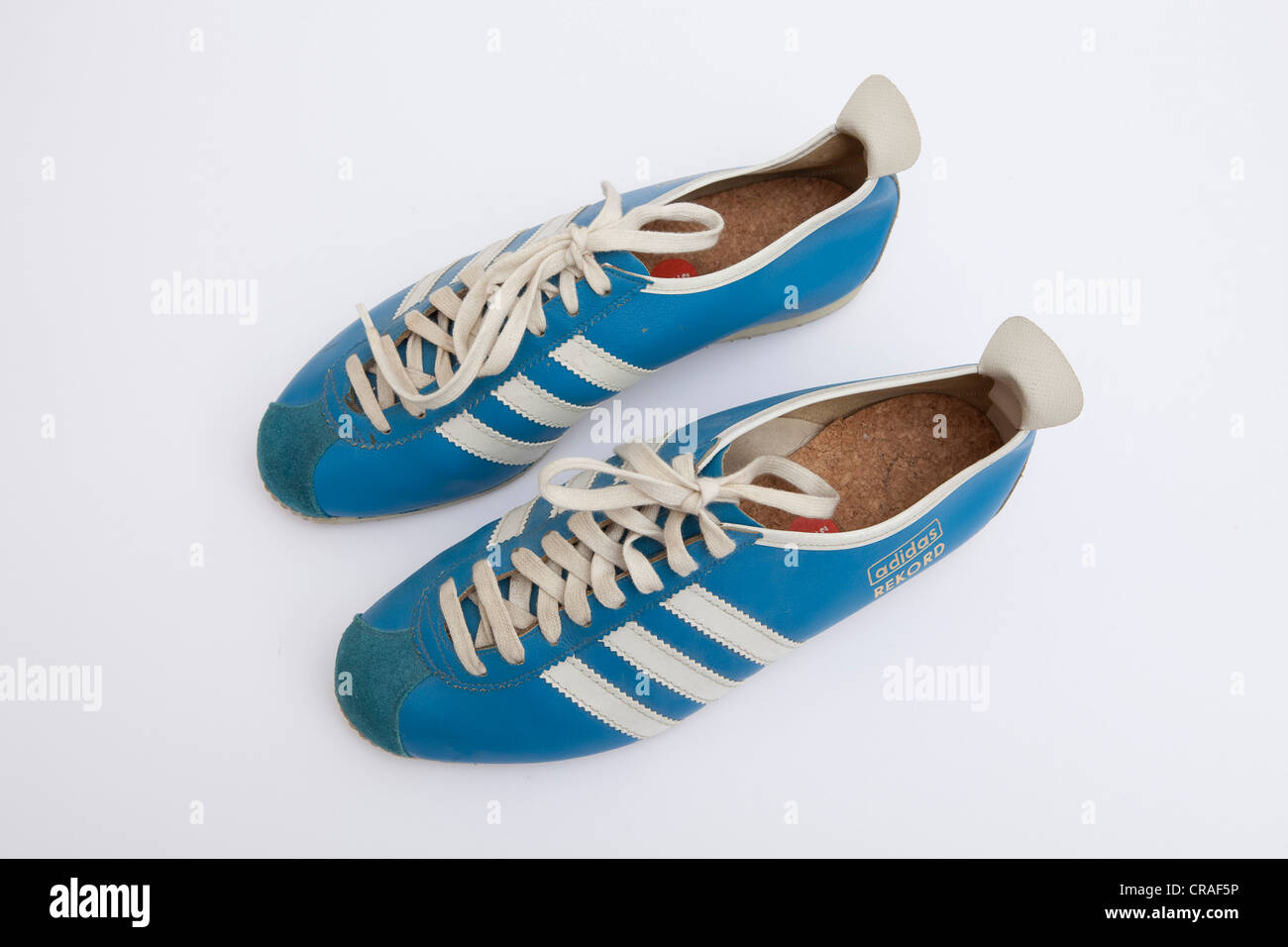Old Adidas sneakers, Rekord model of the 1960s Stock Photo