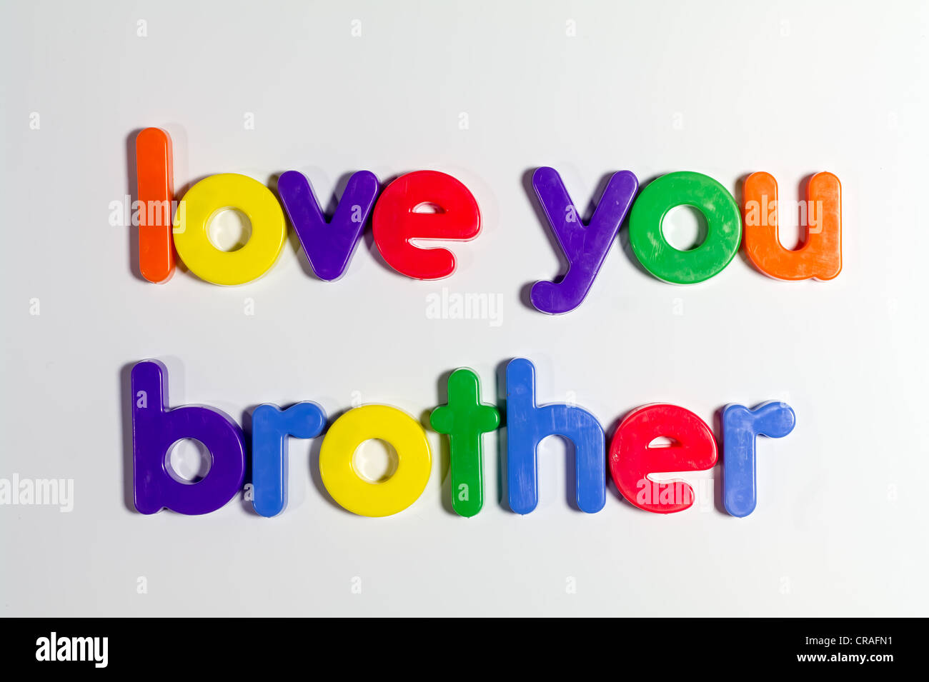 Love You Brother Written With Fridge Magnets Stock Photo 48789693