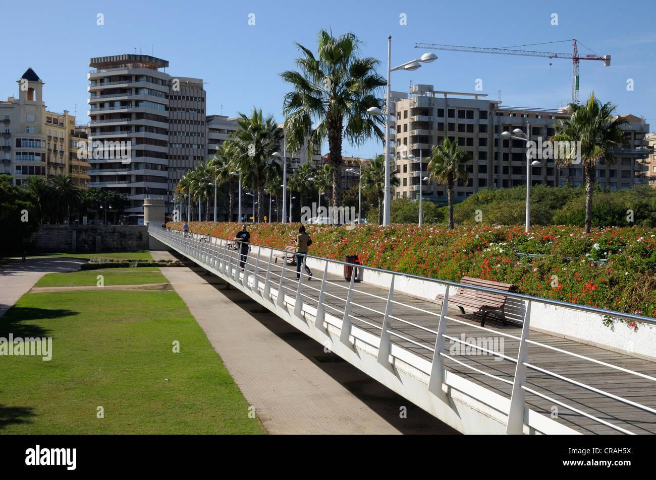 Puente de las Flores bridge, Valencia, Spain, Europe Stock Photo