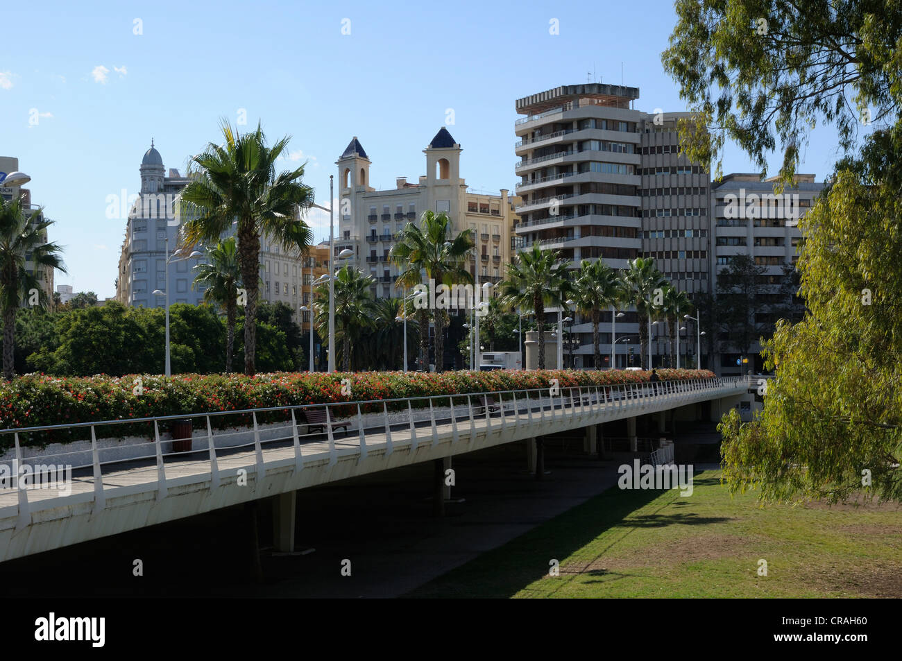 Puente de las Flores bridge, Valencia, Spain, Europe Stock Photo