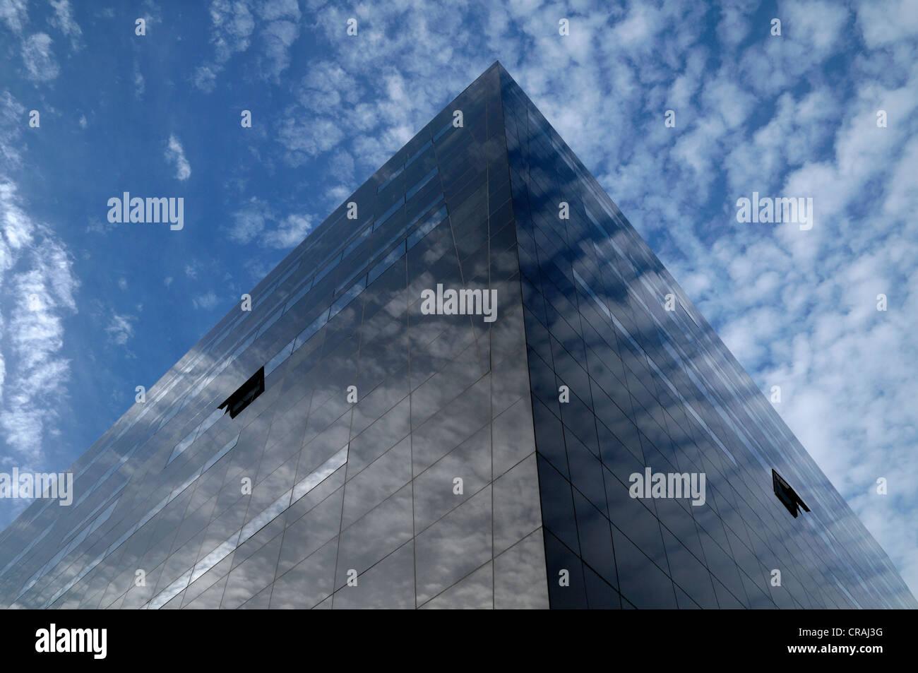 The Black Diamond, modern addition to the Royal Library, Copenhagen, Denmark, Scandinavia, Europe, PublicGround - Stock Image