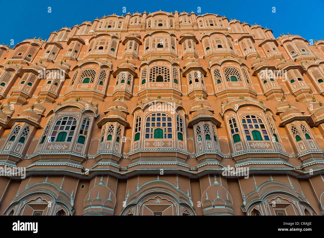 Hawa Mahal, Palace of Winds, Jaipur, Rajasthan, India, Asia - Stock Image