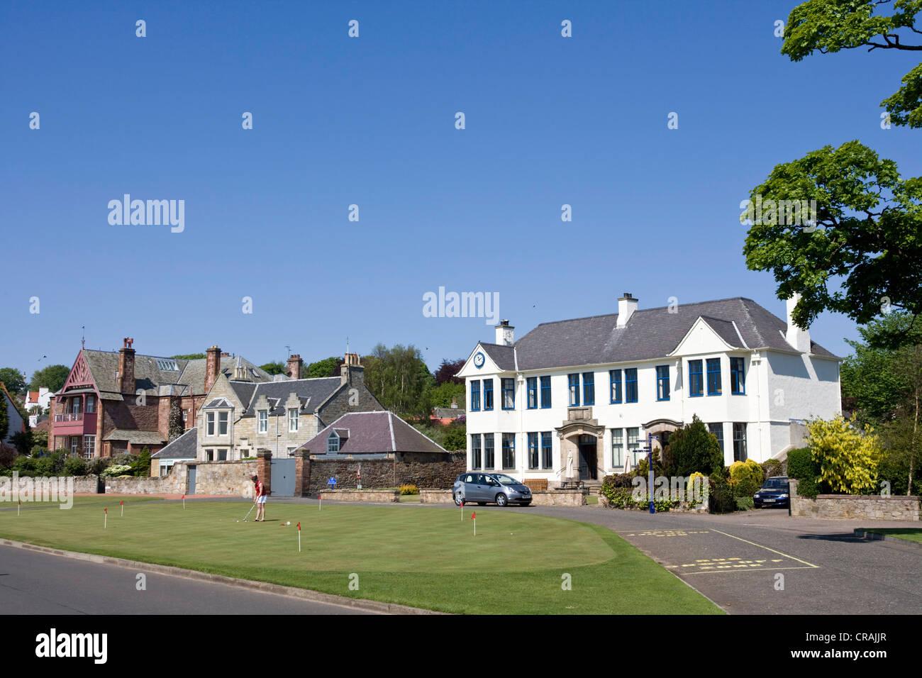 Members Clubhouse Gullane Golf Club, Scotland. - Stock Image