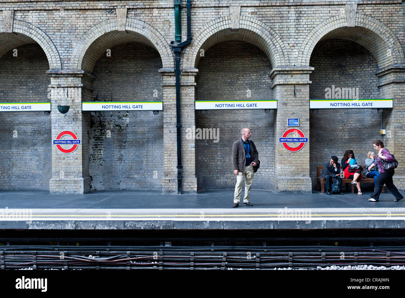Notting Hill Gate underground station, Notting Hill, London, England, United Kingdom, Europe - Stock Image
