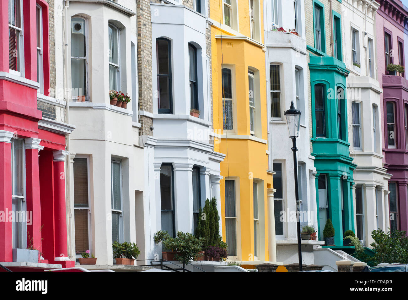Notting hill london houses colourful stock photos for House notting hill