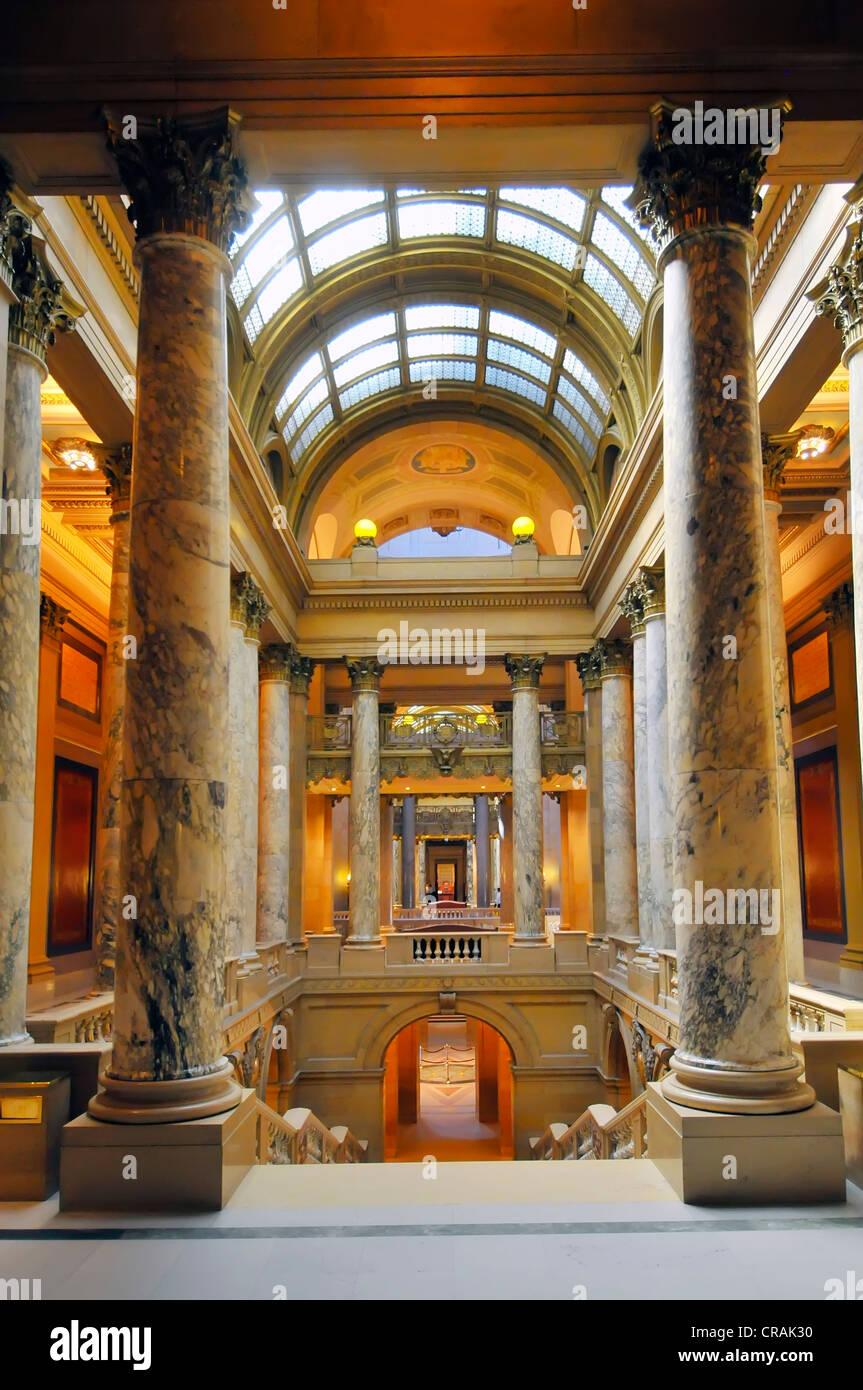 Intrior Minneapolis Minnesota State Capitol Capital Building  - Stock Image