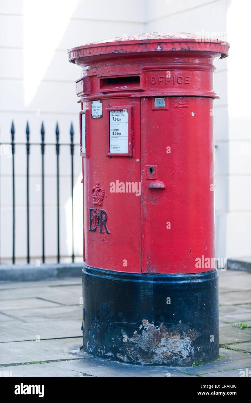 Red letter box, Camden, London, England, United Kingdom, Europe - Stock Image