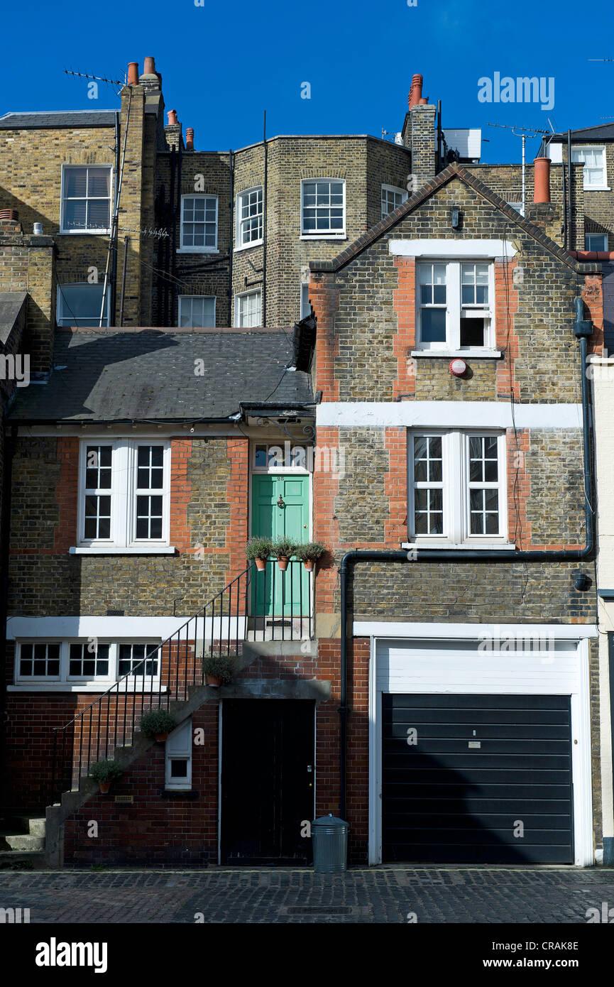 Backyard, Marylebone, London, England, United Kingdom, Europe - Stock Image
