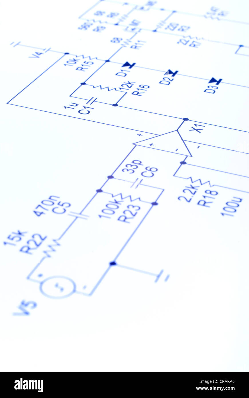 Electronic Circuit Stock Photos Images Diagram In Blue Our Own Design No Copyright Issues