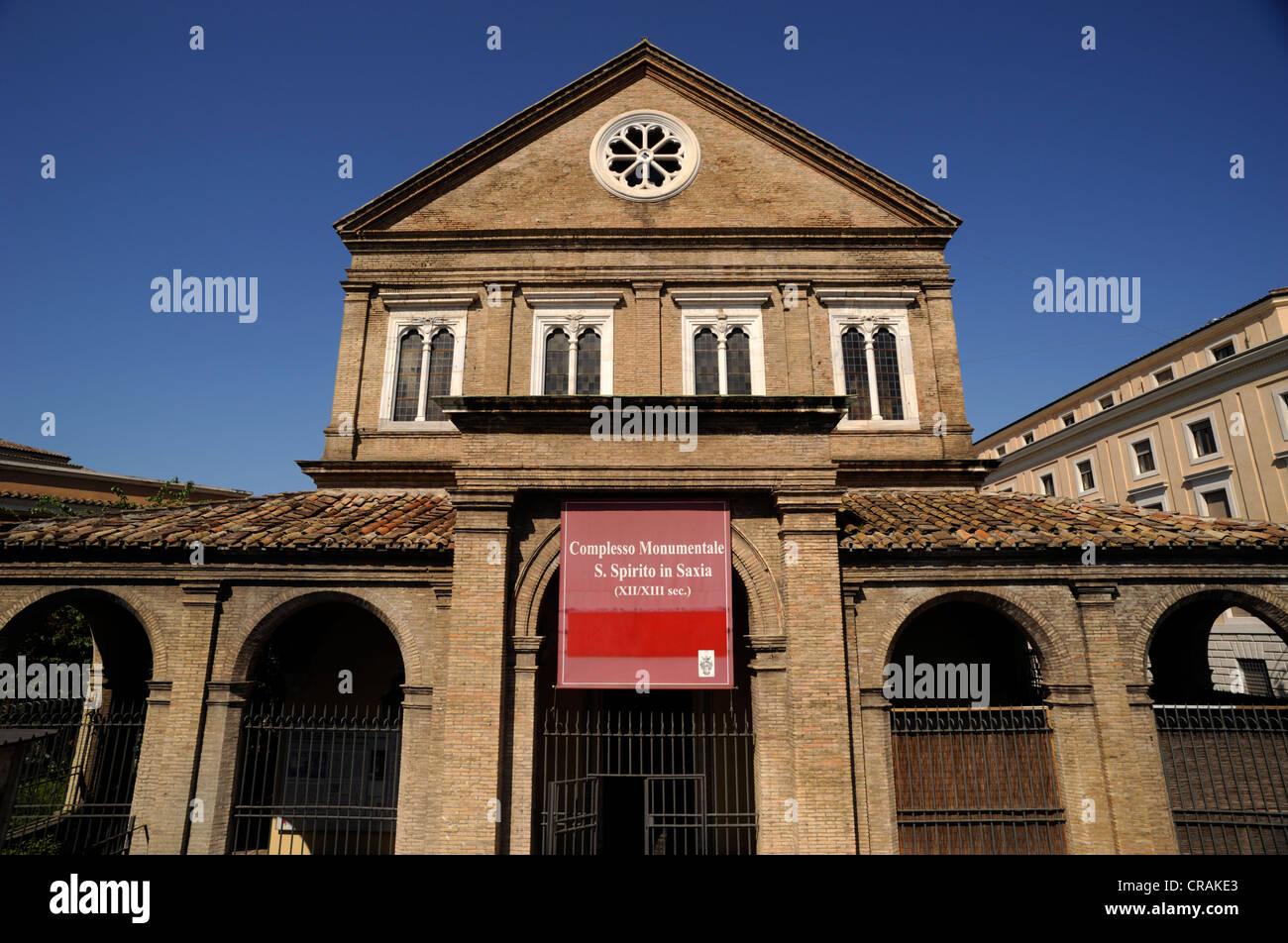 italy, rome, complex of santo spirito in sassia - Stock Image