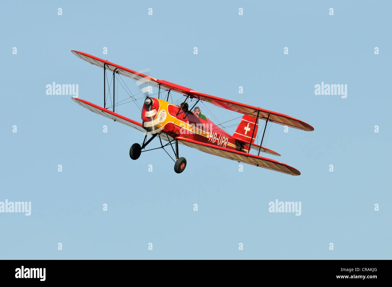 Belgian Stampe SV4A biplane, first flight in 1938, Europe's largest meeting of vintage aircraft in Hahnweide, - Stock Image