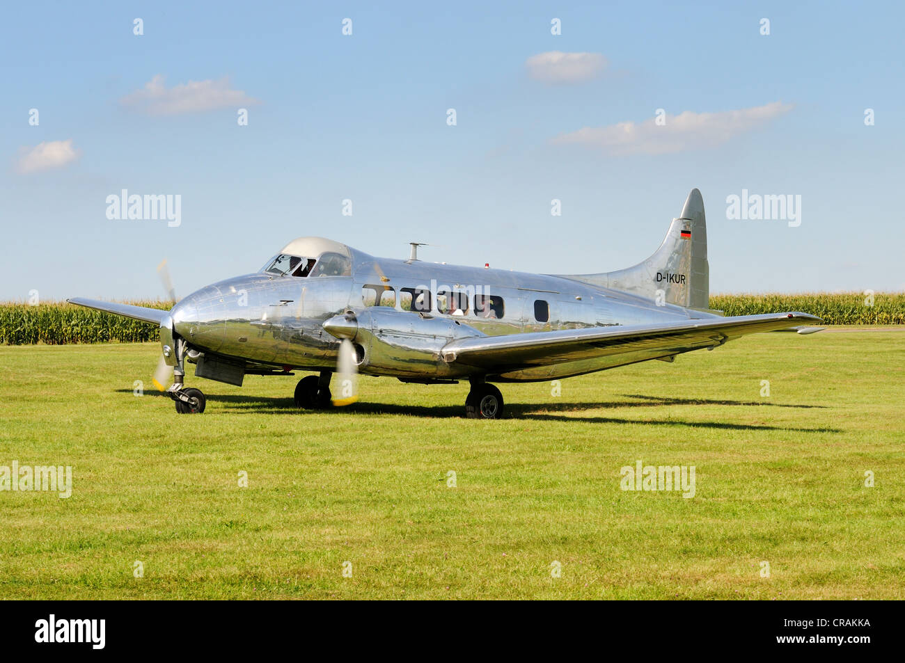 Passenger airliner, de Havilland DH.104 Dove, first flight in 1945, Europe's largest meeting of vintage aircraft - Stock Image
