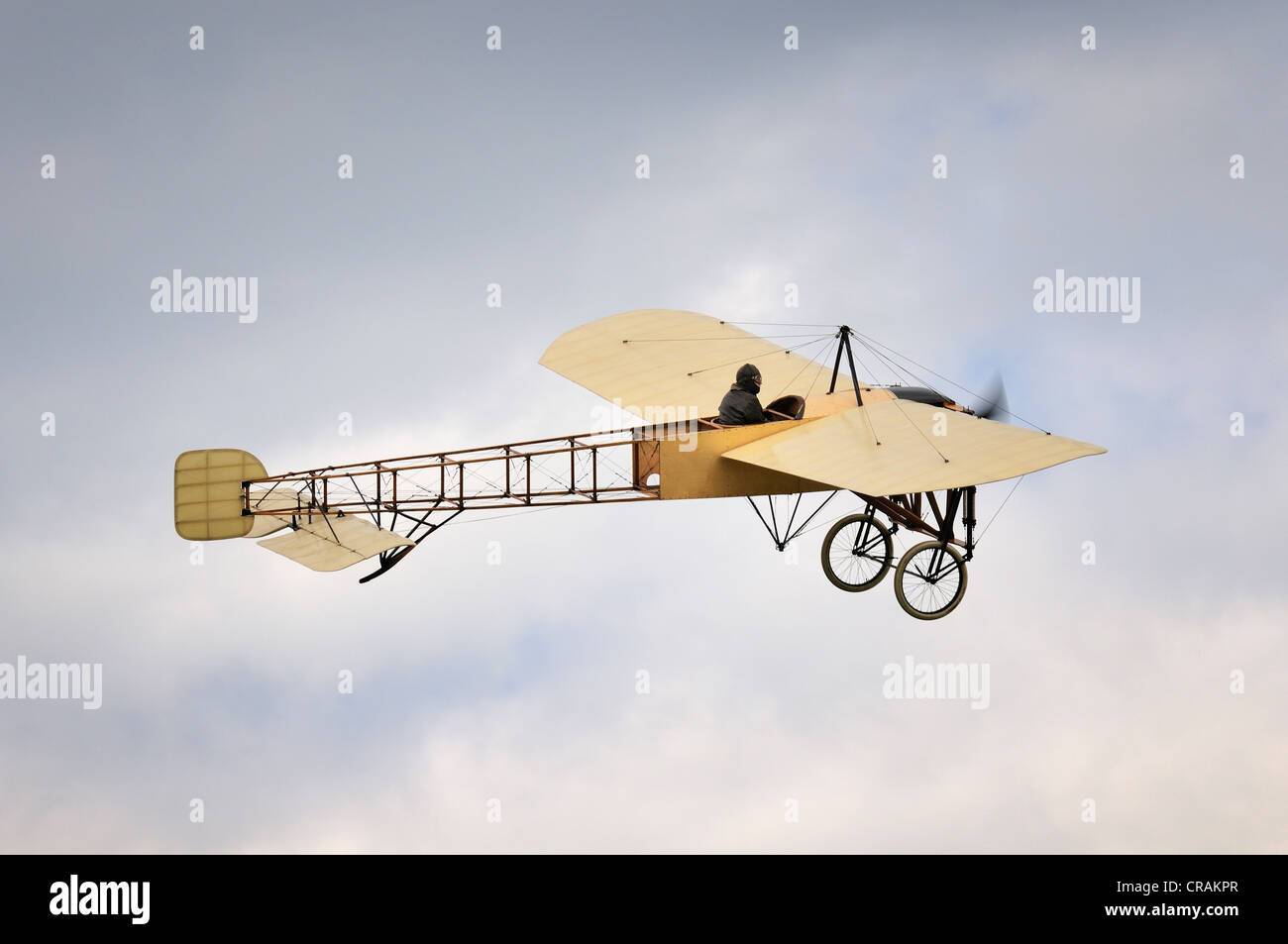 Original Thulin-Blériot XI, built in 1918, Europe's largest meeting of vintage aircraft at Hahnweide, Kirchheim - Stock Image