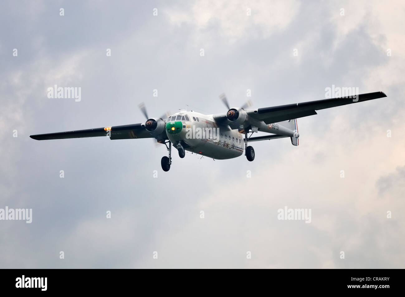 Nord Noratlas N2501, the world's only flight-ready example of the French transport plane, Europe's largest - Stock Image
