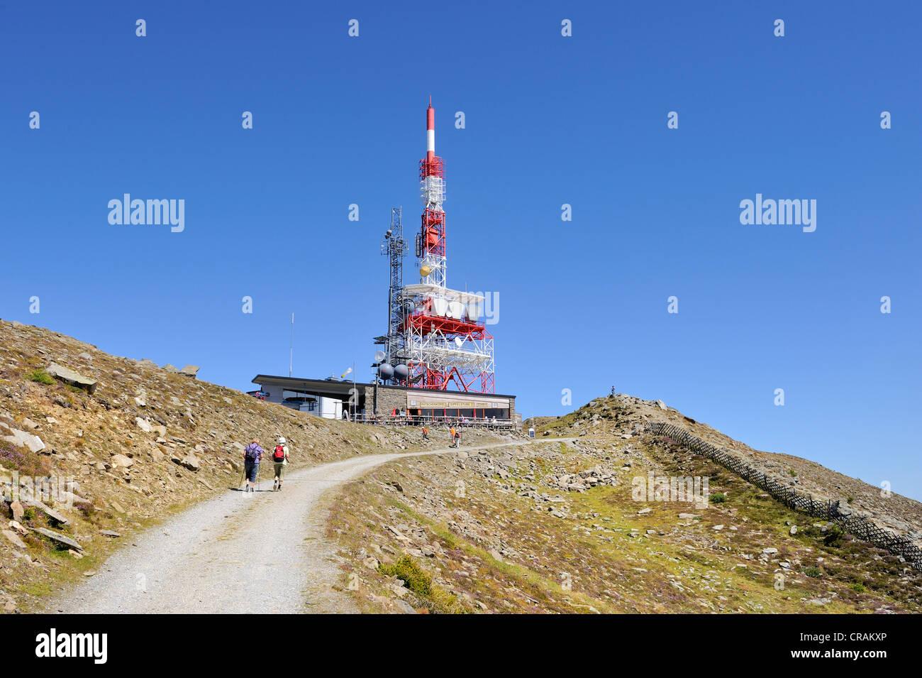 Mountain Station Radio Tower Stock Photos & Mountain Station