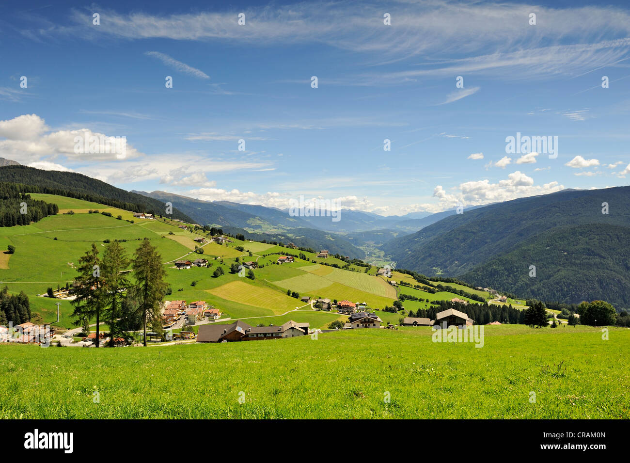 Scattered settlements of the municipality of Maranza, Pusteria Valley, Alto Adige, Italy, Europe - Stock Image