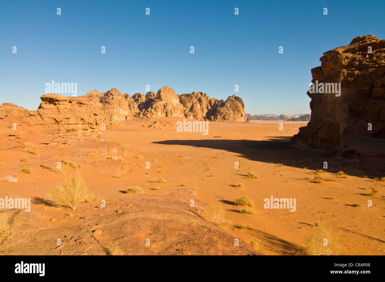 Rocks, desert, Wadi Rum, Jordan, Middle East - Stock Image