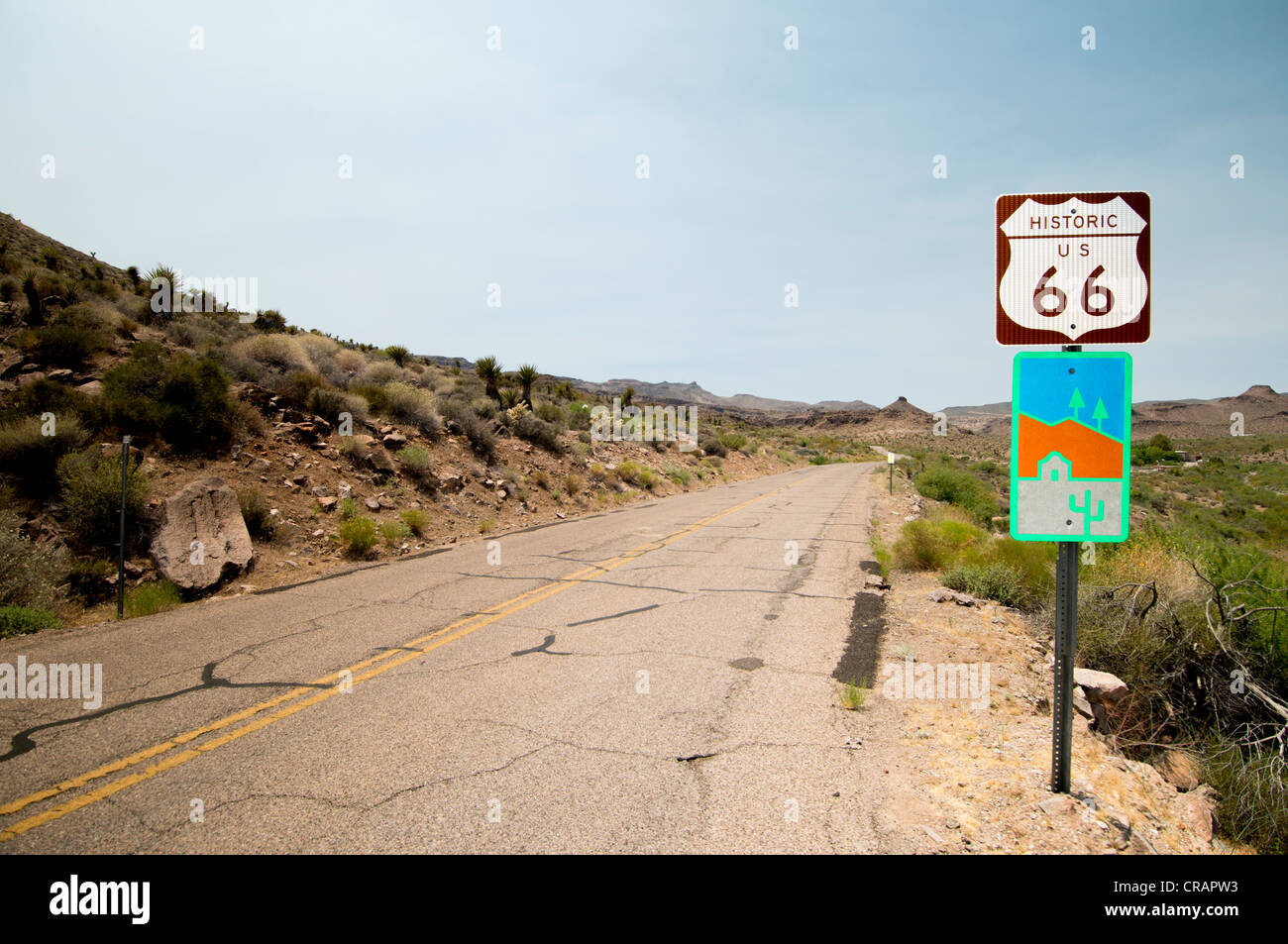 route 66 historic highway across america signpost near oatman