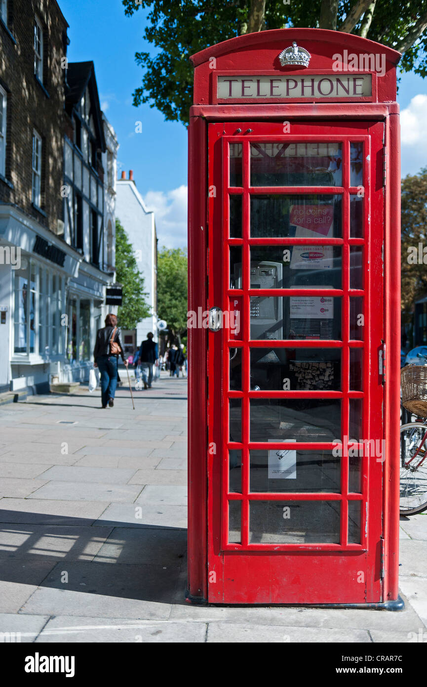 Phone box, Hampstead, London, England, United Kingdom, Europe - Stock Image