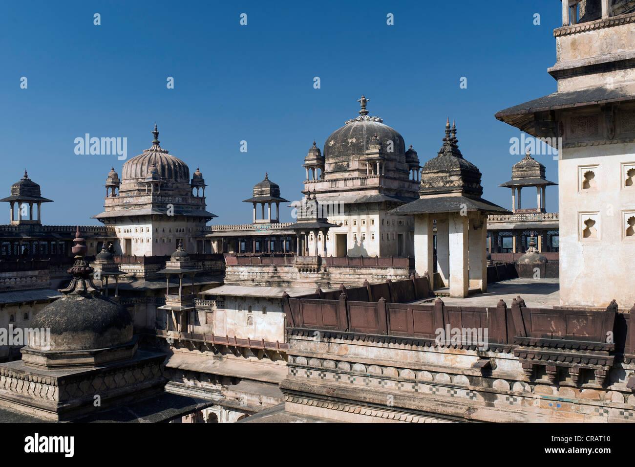 Raj Mahal Palace, Orchha, Madhya Pradesh, North India, India, Asia - Stock Image
