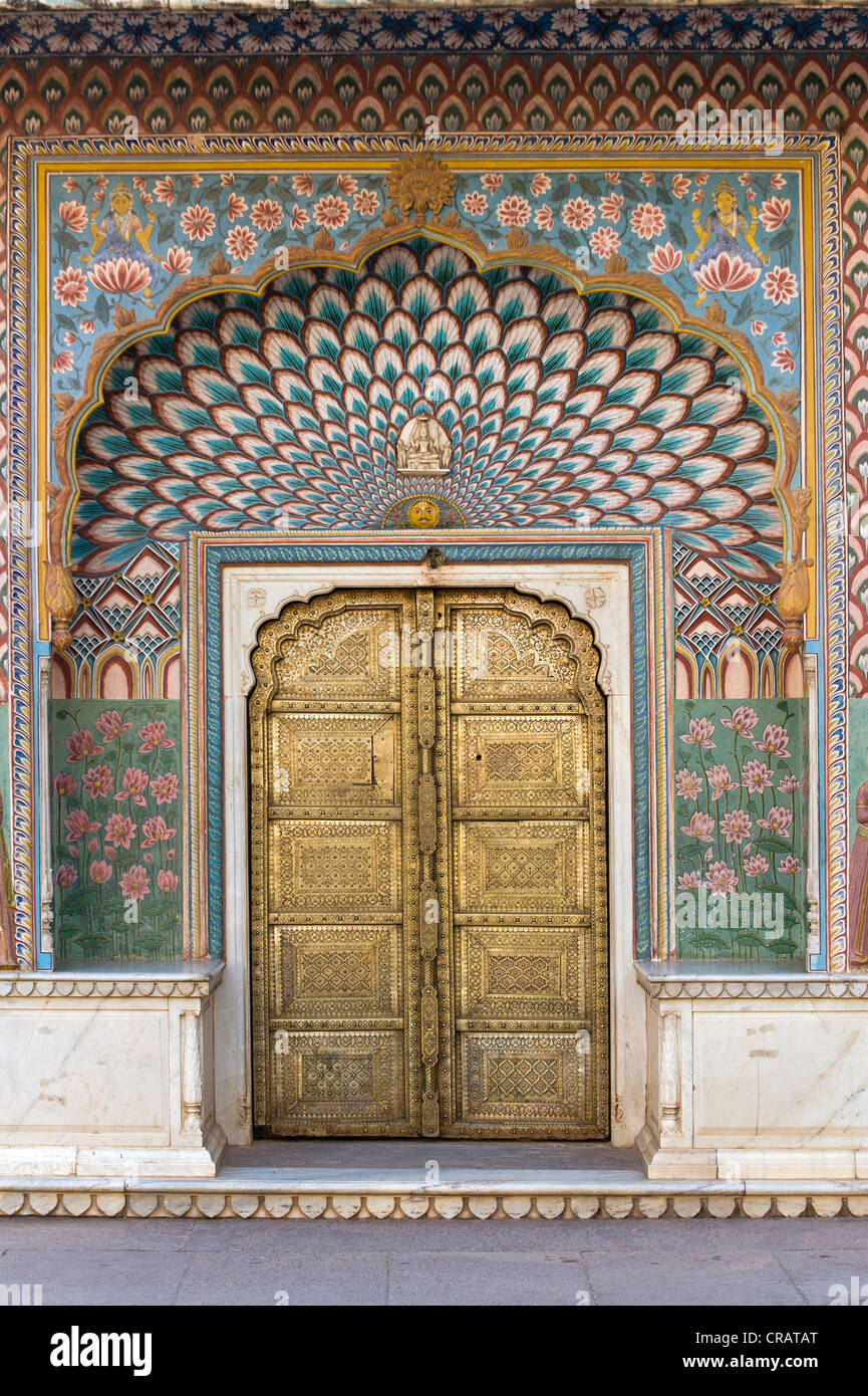 City Palace Jai Singh II, Jaipur, Rajasthan, India, Asia - Stock Image