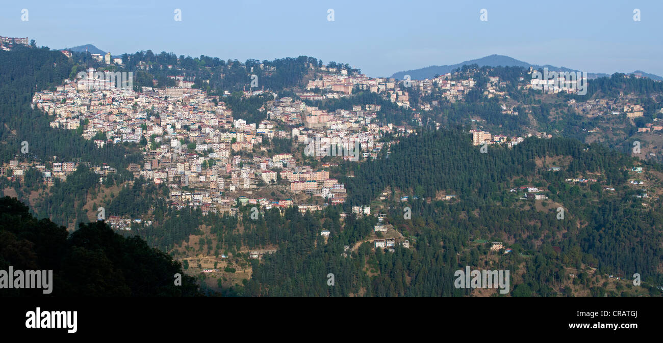 Shimla, capital of Himachal Pradesh, North India, India, Asia - Stock Image