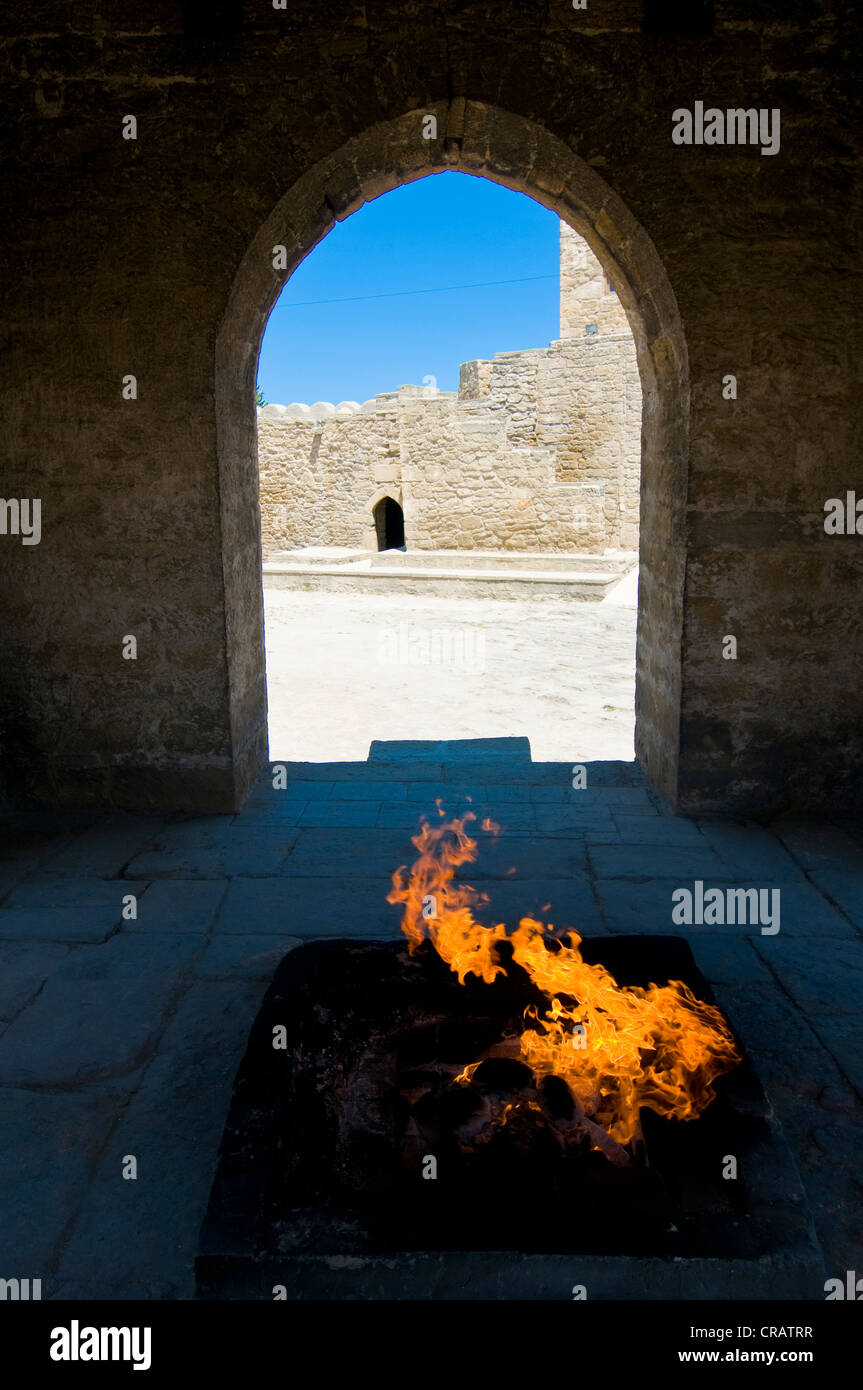 Atesgah, Ateschgah Fire Temple of the Zoroastrians, Abseron Peninsula, Azerbaijan, Caucasus, Middle East - Stock Image