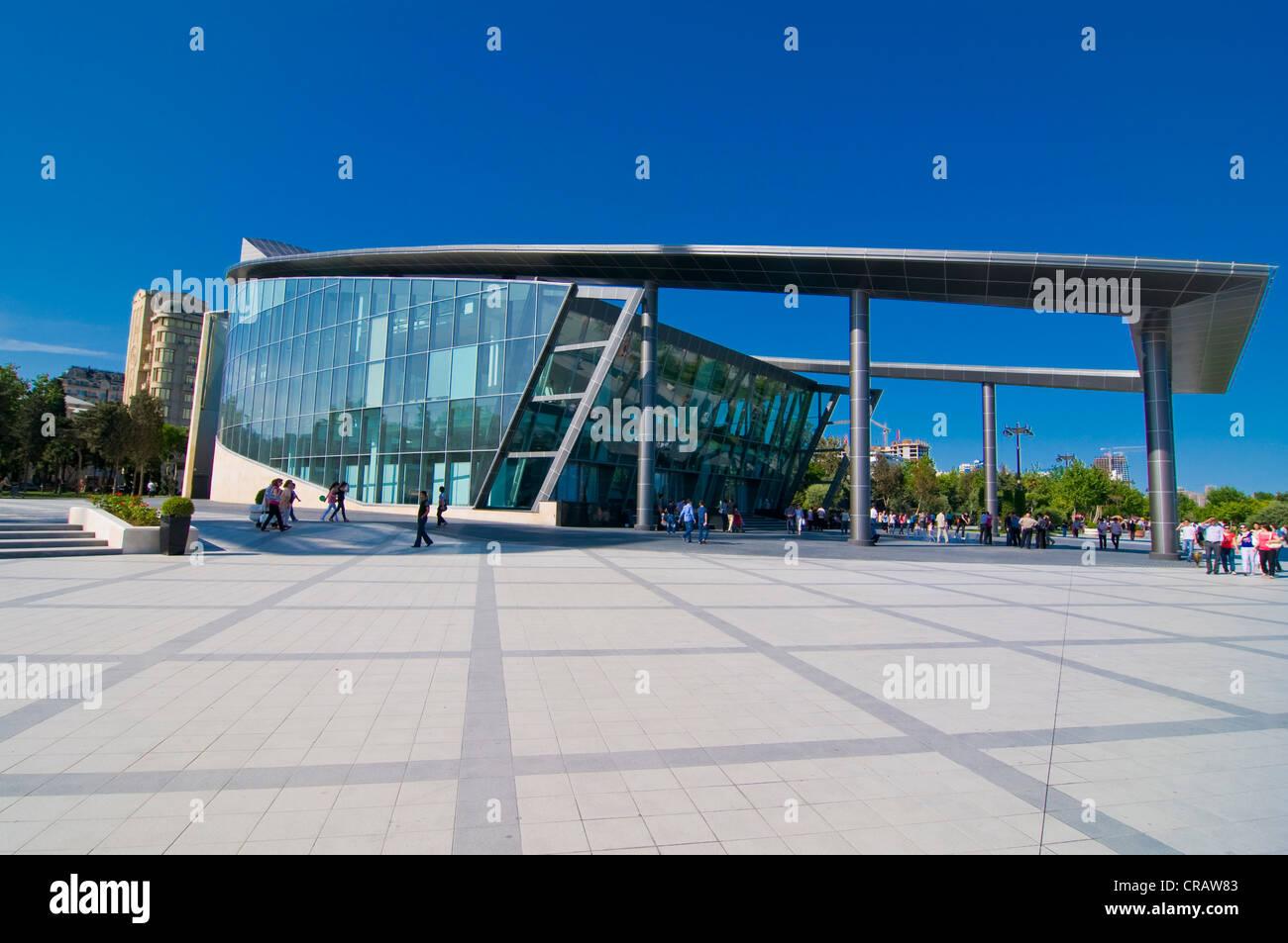 Modern building, Baku, Azerbaijan, Middle East Stock Photo