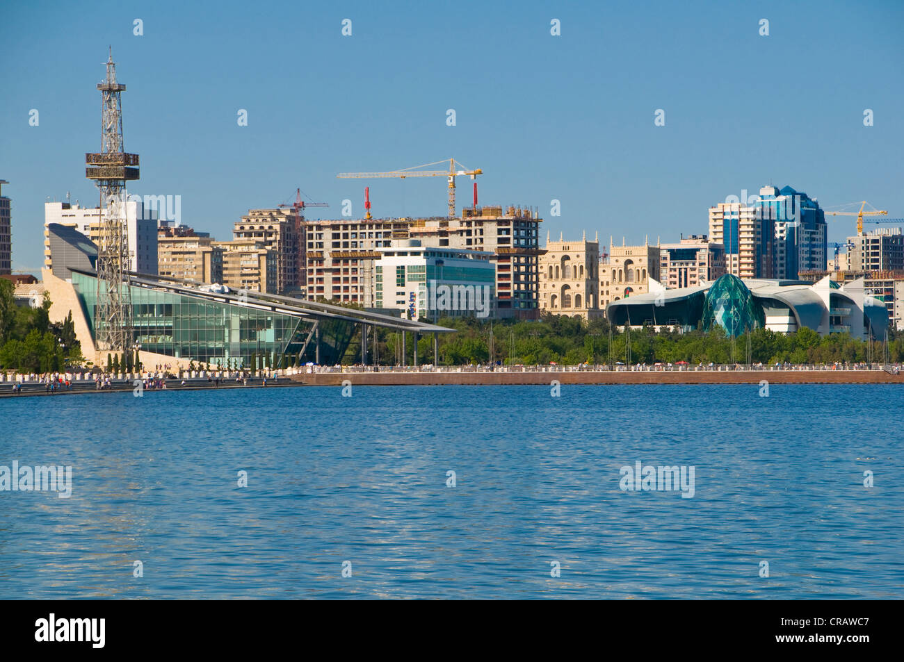 Modern waterfront from Baku, Azerbaijan, Caucasus, Middle East - Stock Image