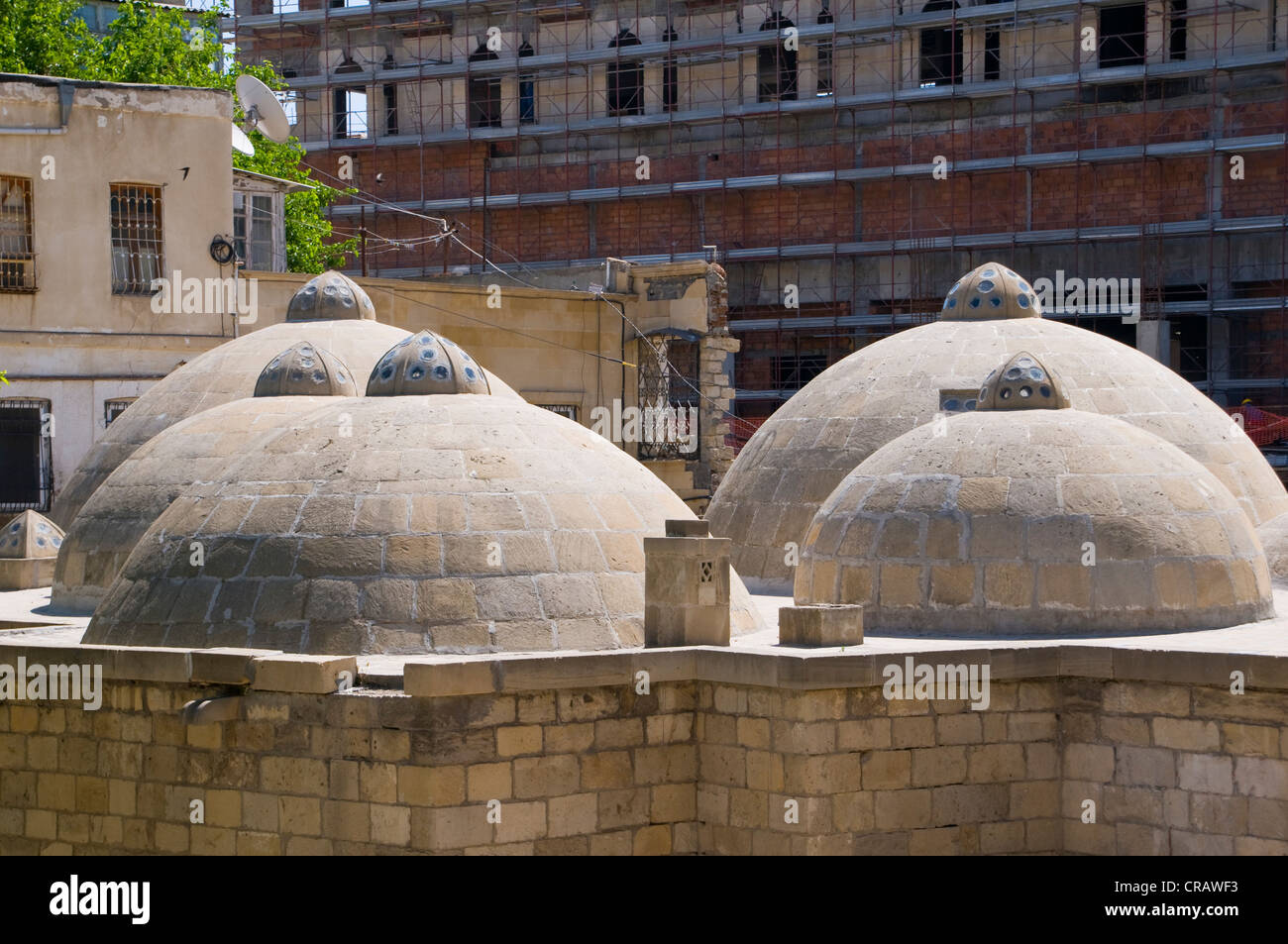 Roof of an old steam bath, Hammam, Baku, Azerbaijan, Caucasus, Middle East - Stock Image