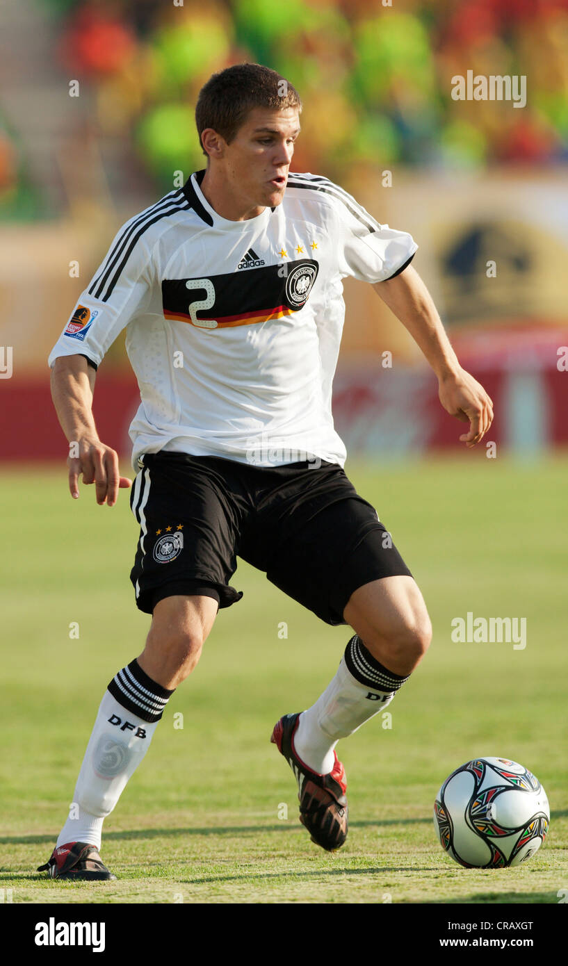 Sebastian Jung of Germany on the ball during a 2009 FIFA U-20 World Cup Group C match against South Korea. - Stock Image