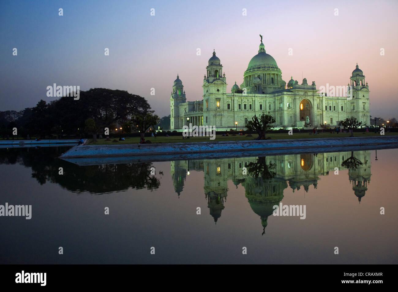 Queen Victoria Memorial, museum, Calcutta or Kolkata, West Bengal, India, Asia - Stock Image