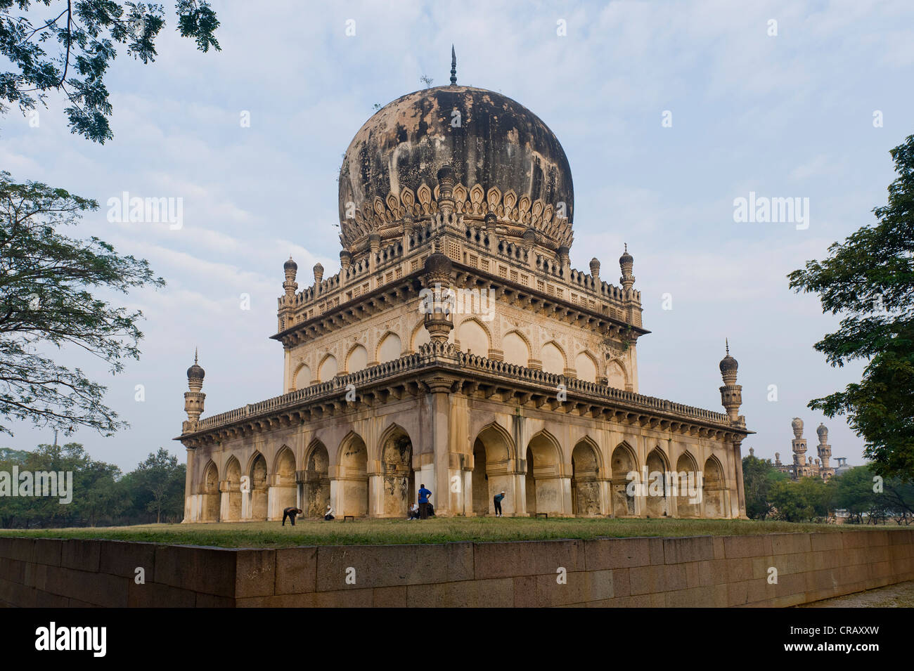 Grave monument of the Nizam of Hyderabad, Golconda, Hyderabad, Andhra Pradesh, India, Asia - Stock Image