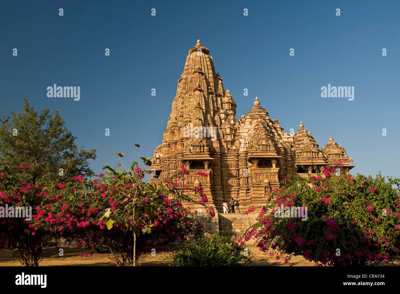 Khajuraho Group of Monuments, UNESCO World Heritage Site, Madhya Pradesh, India, Asia - Stock Image