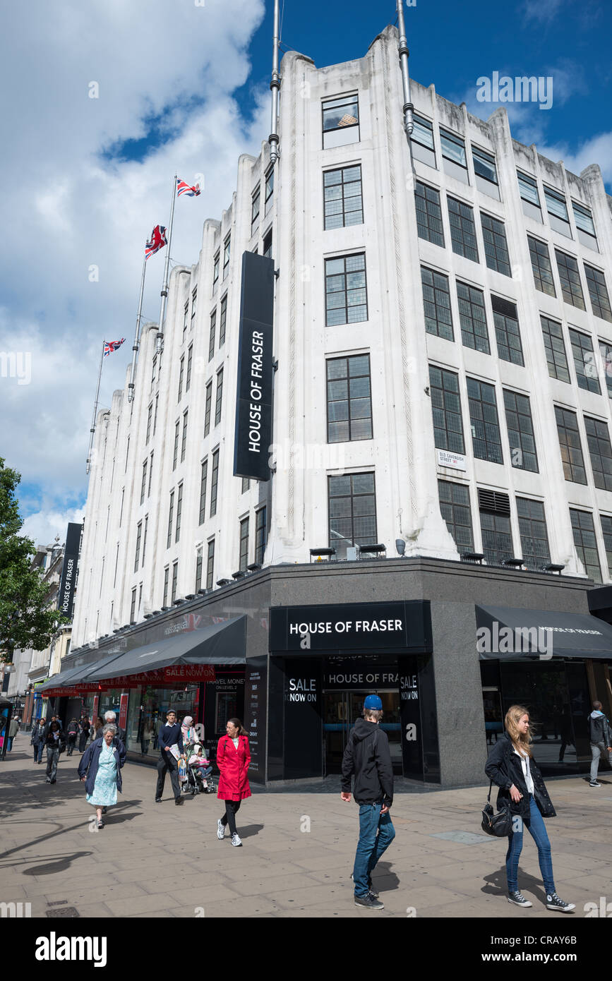 House of Fraser department store at Oxford Street, London, England. - Stock Image