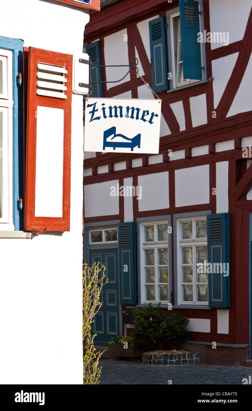 Rooms for rent, Marktplatz square, Butzbach, Hesse, Germany, Europe, PublicGround Stock Photo