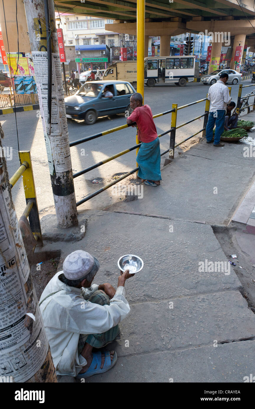 Street scene, Guwahati, capital of Assam, northeast India, India, Asia - Stock Image