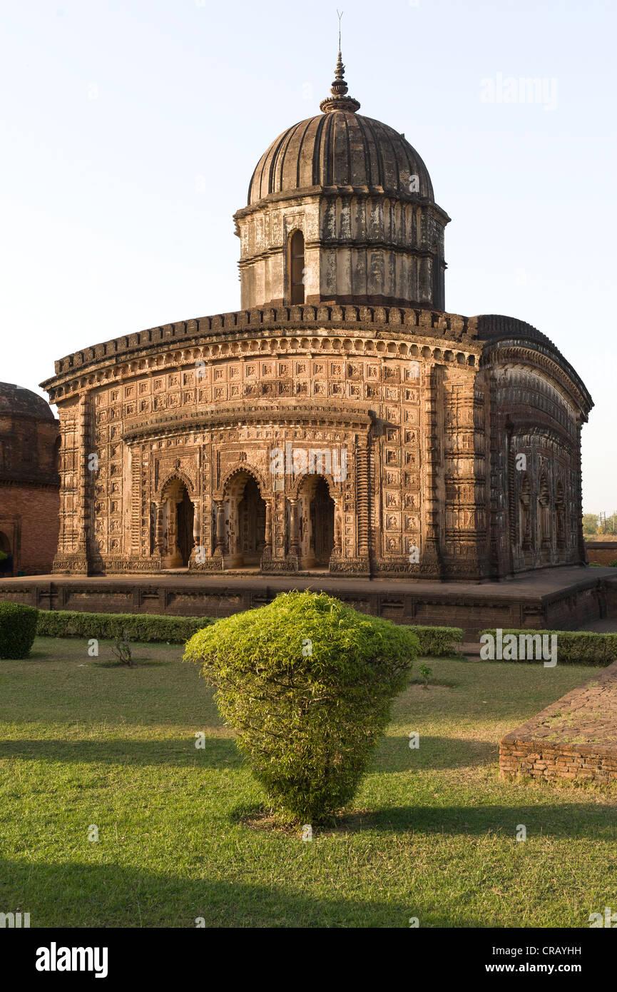 Radha Shyam terracotta temple, Bishnupur, Bankura district, West Bengal, India, Asia - Stock Image