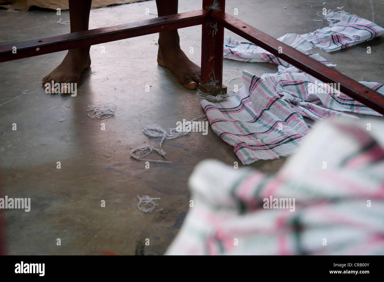 Child labor, Karur, Tamil Nadu, India, Asia - Stock Image