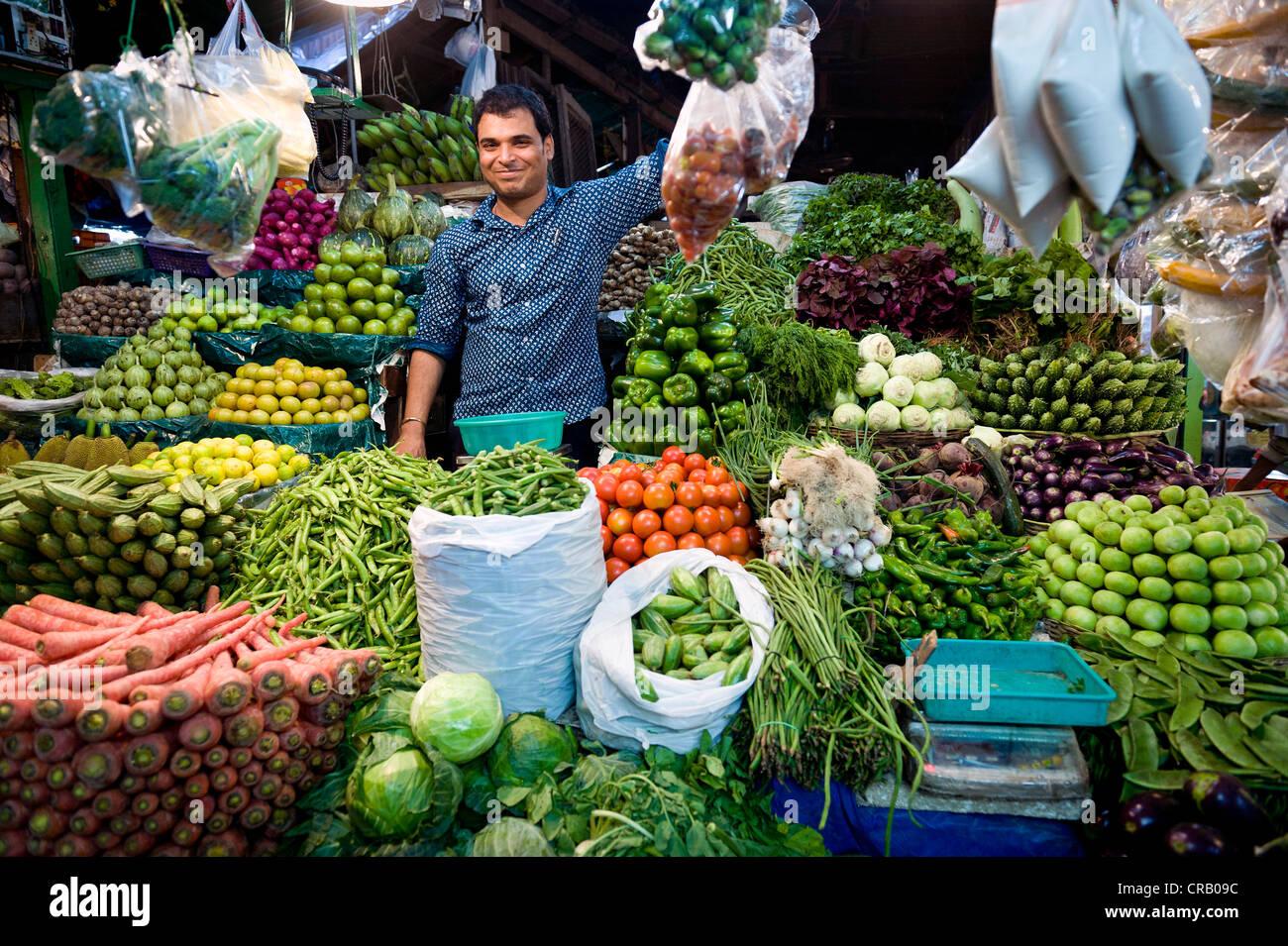 Vegetable market, Kolkata, Calcutta, West Bengal, India, Asia - Stock Image