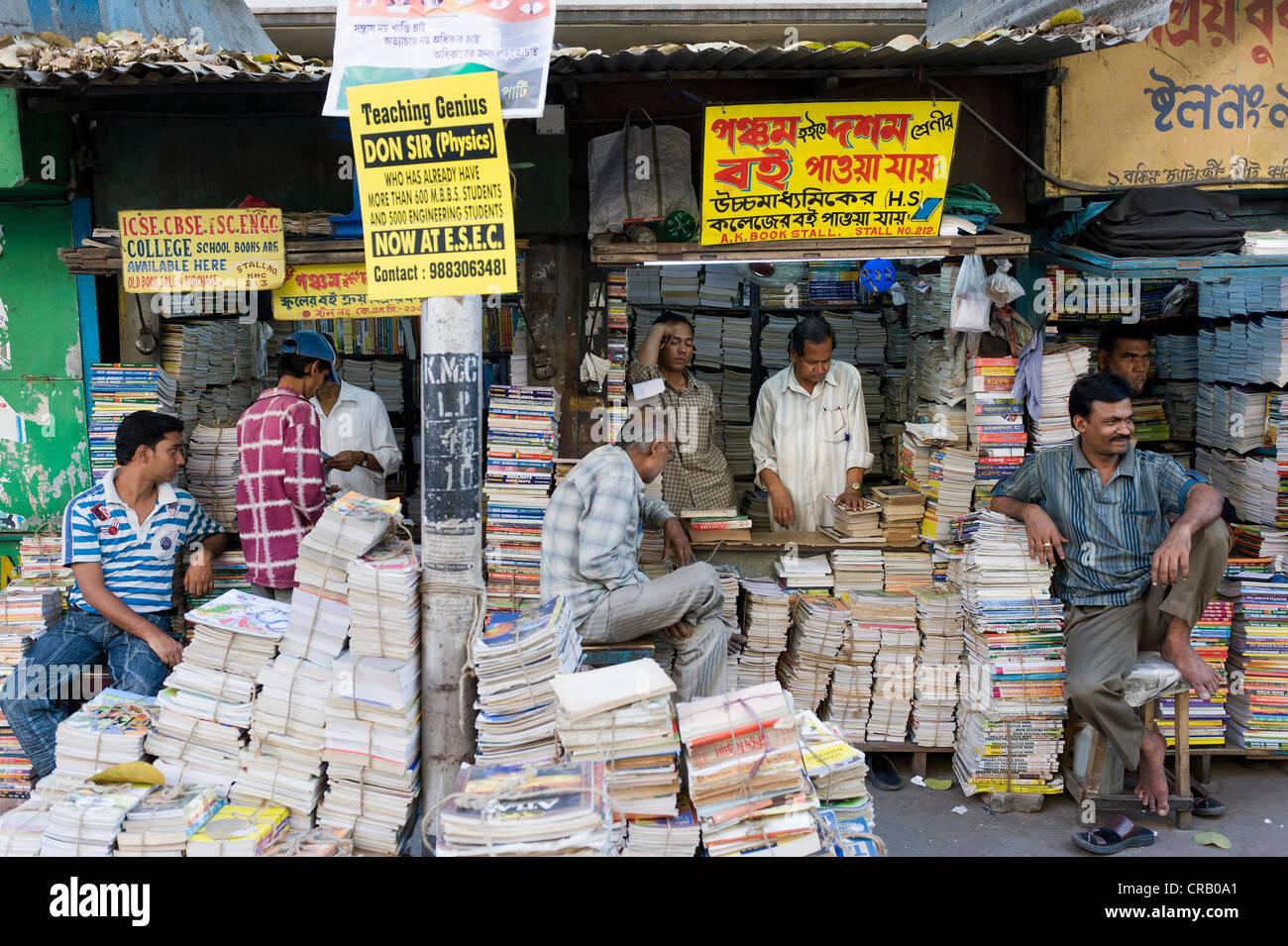 Book market, College Street, Kolkata, Calcutta, West Bengal, India, Asia - Stock Image