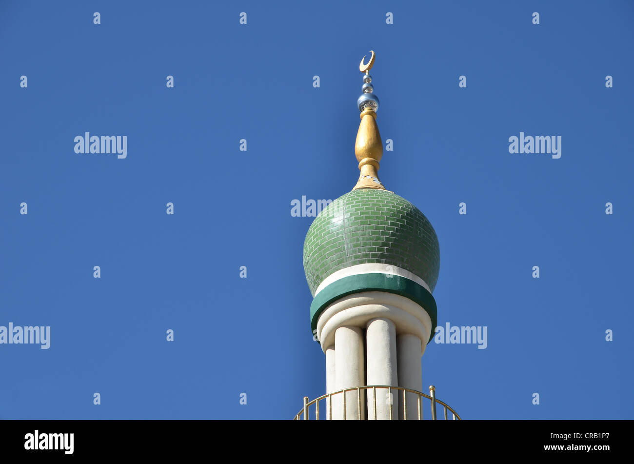 Minaret of the mosque in Lhasa, central Tibet, Tibet, China, Asia - Stock Image